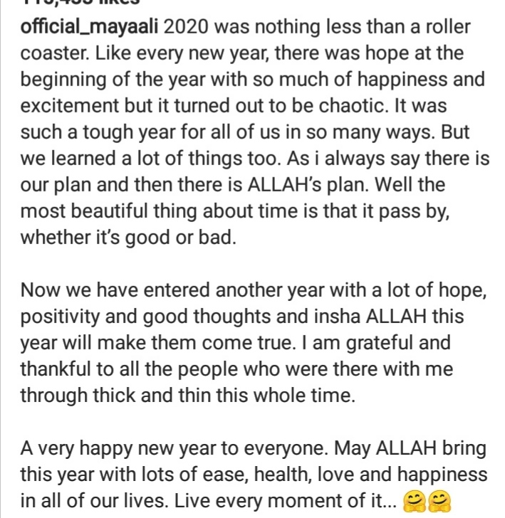 Pakistani Celebrities Sharing Positivity and Best Wishes For Year 2021