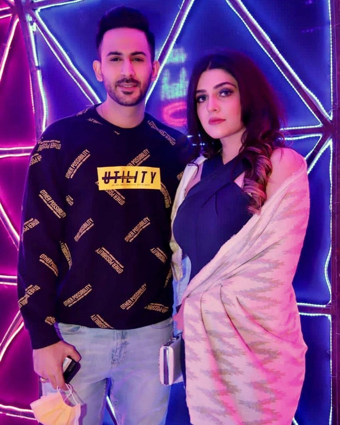 Shan Baig with his Wife Michelle Shan - Latest Clicks