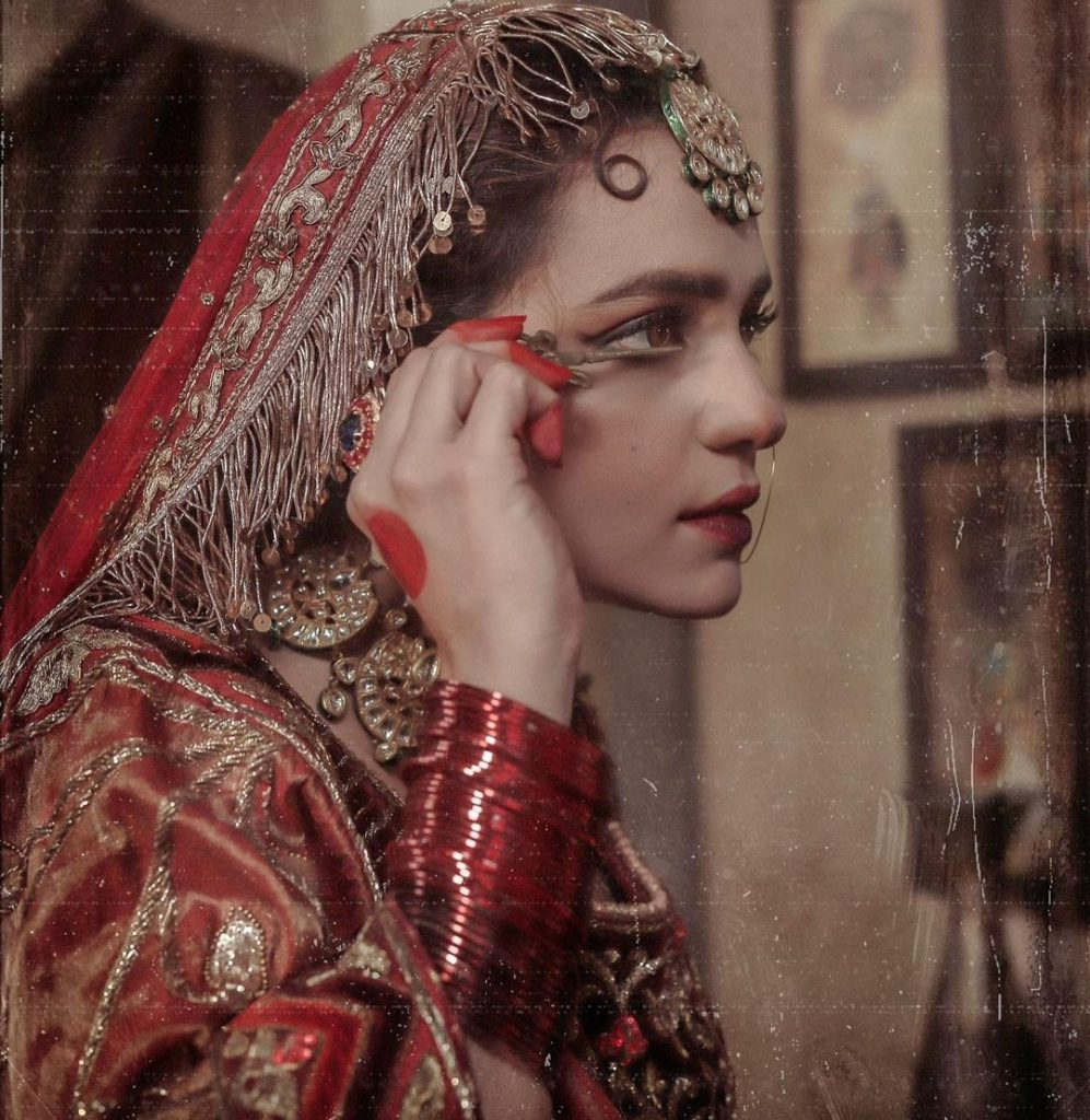 Sumbul Iqbal's Bridal Shoot in Traditional Look