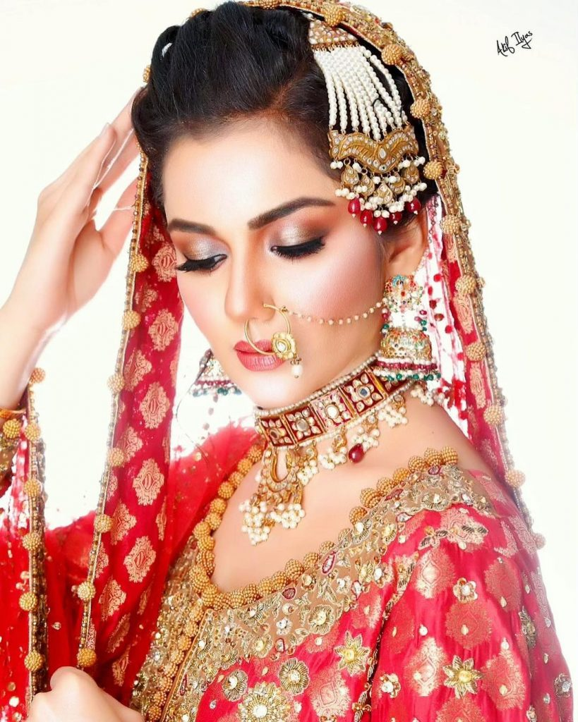 Syeda Tuba Aamir Dolled Up By Akif Ilyas For A Bridal Shoot