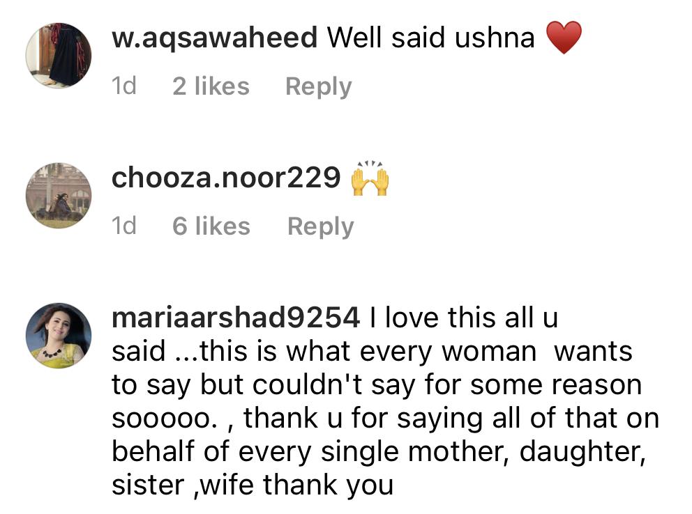 Public Reaction To Ushna Shah's Recent Picture's Caption