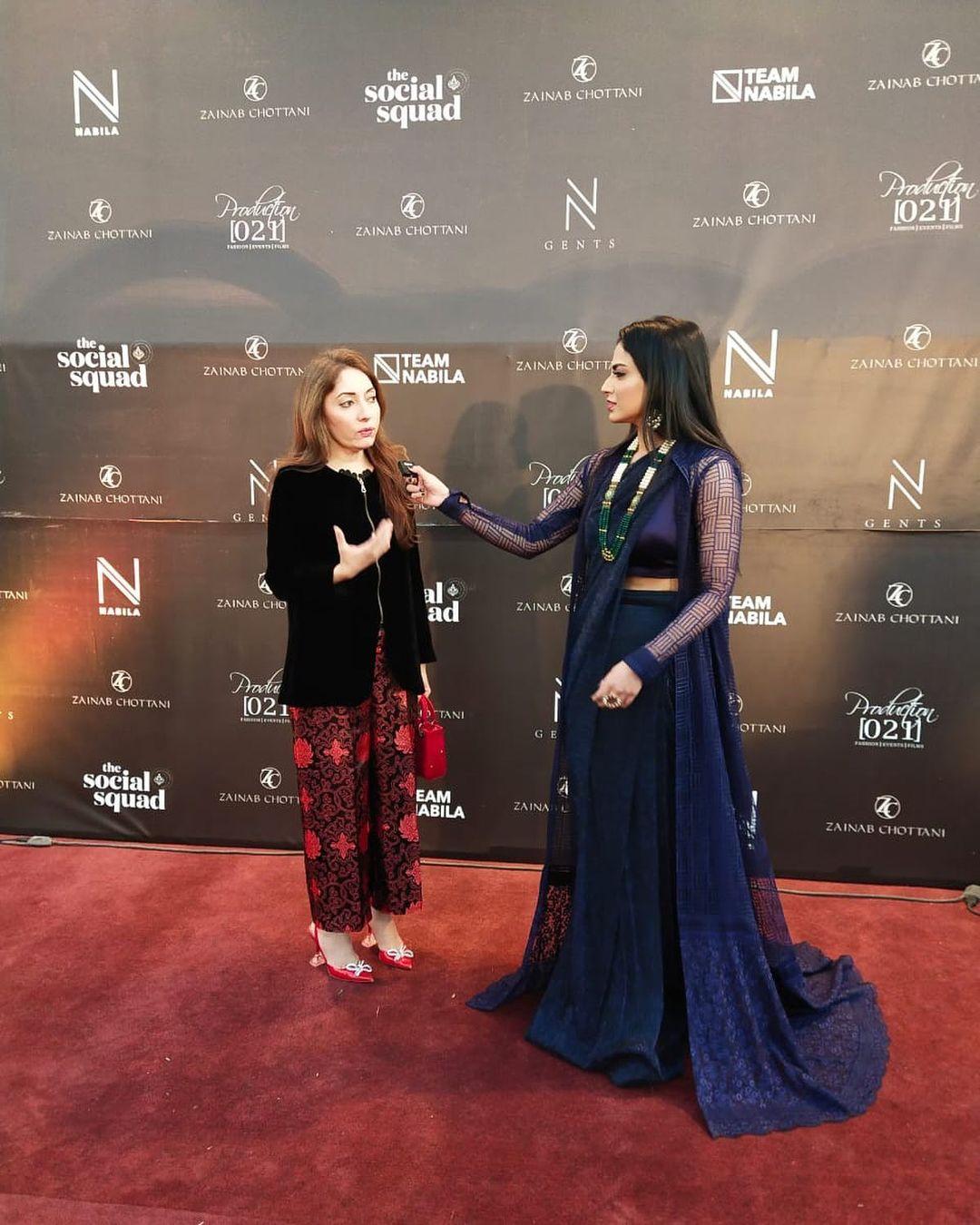 Beautiful Clicks of Celebrities Spotted at Zainab Chotani Fashion Show