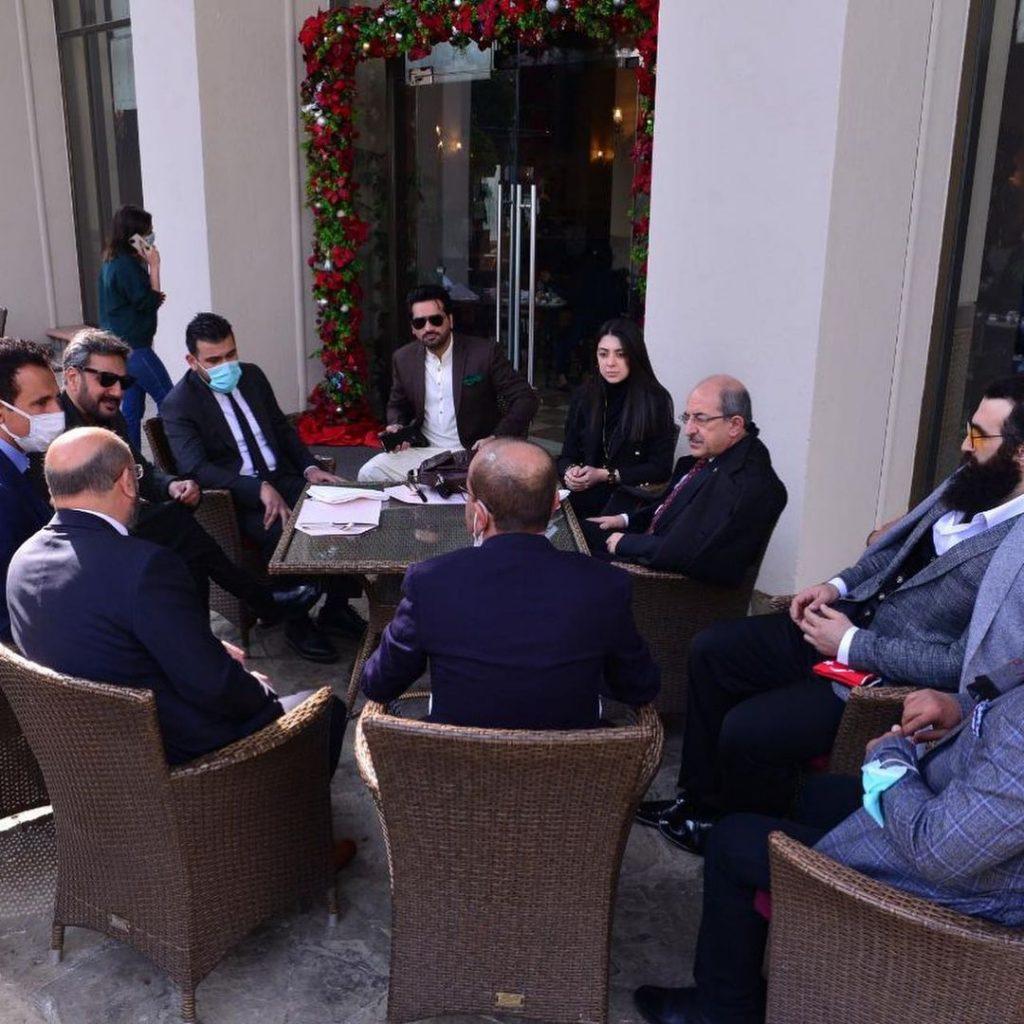 Adnan Siddiqui And Humayun Saeed Greeted Turkish Star Celal Al In Islamabad