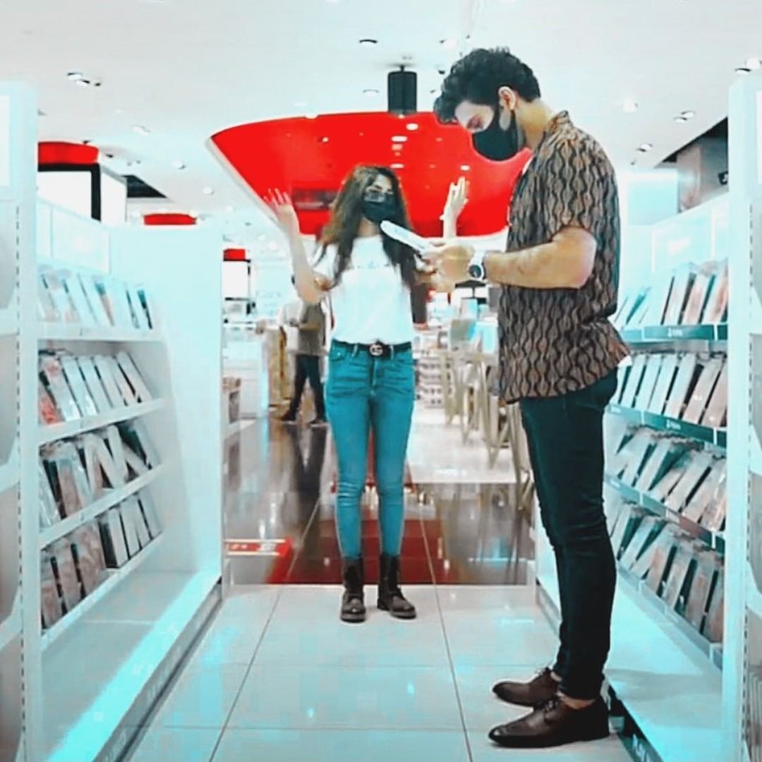 Sajal Aly and Ahad Raza Mir Spotted at the Mall of Emirate Dubai
