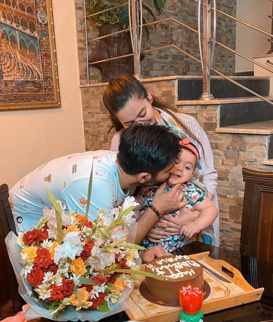 Finest Photos of Aiman Muneeb With Their Baby Girl