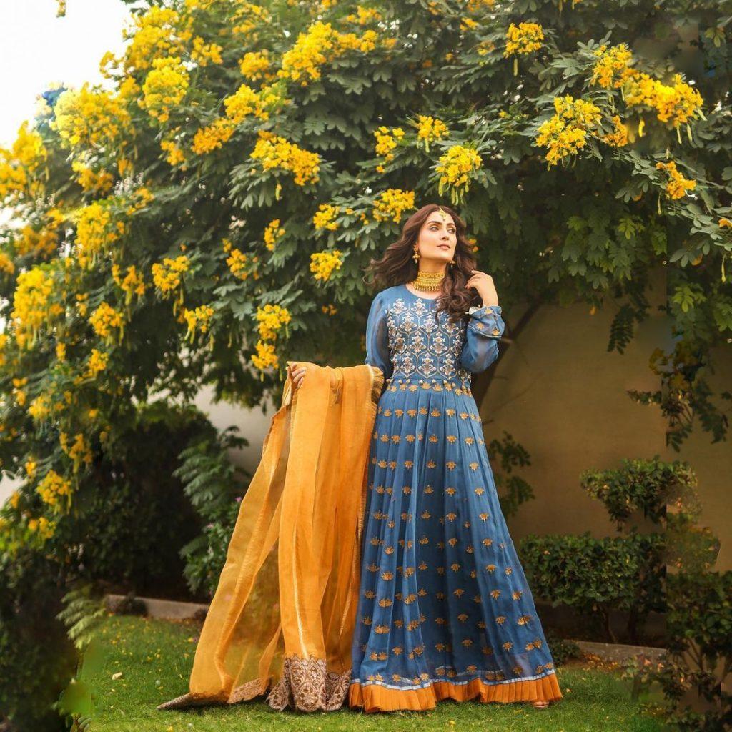 10 Formal Heavy Maxis of Ayeza Khan | Latest Fashion