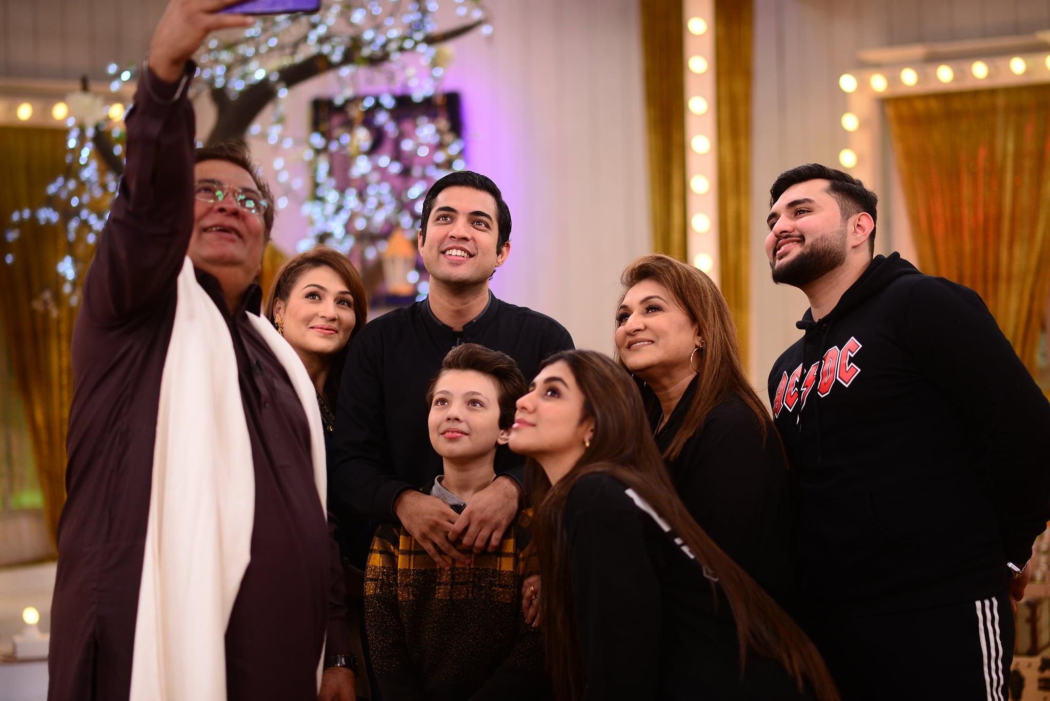 Iqrar ul Hassan with his Family in Nida Yasir Morning Show