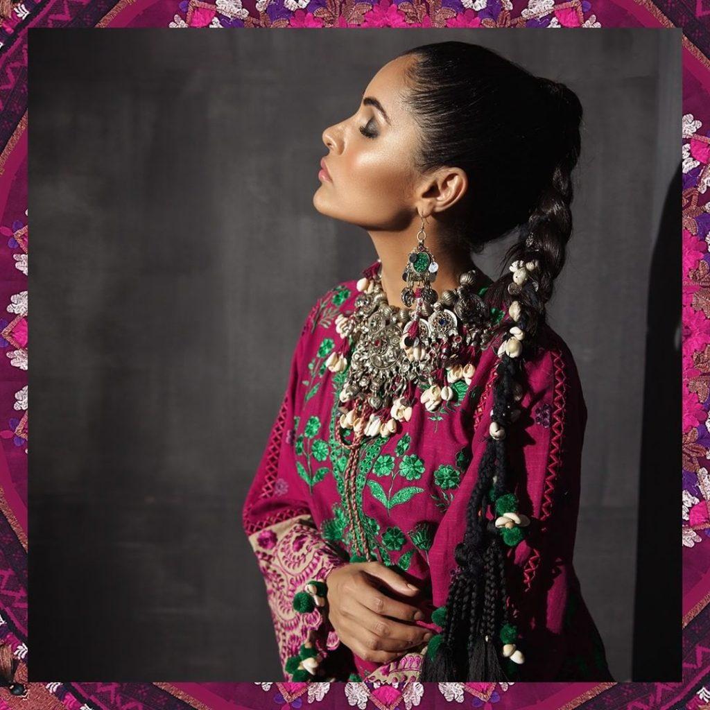 Exquisite Photos of Sadaf Kanwal in Khaadi's Photoshoot