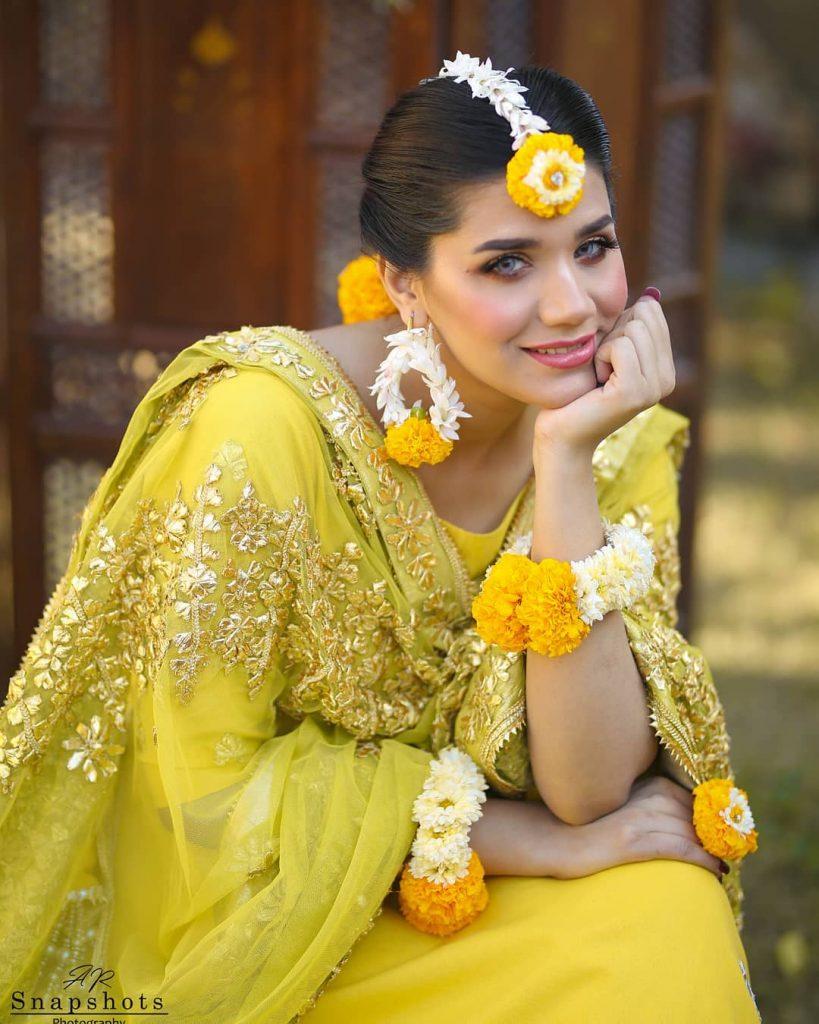 Kiran Ashfaq Shines Bright In Gorgeous Mehndi Ensemble