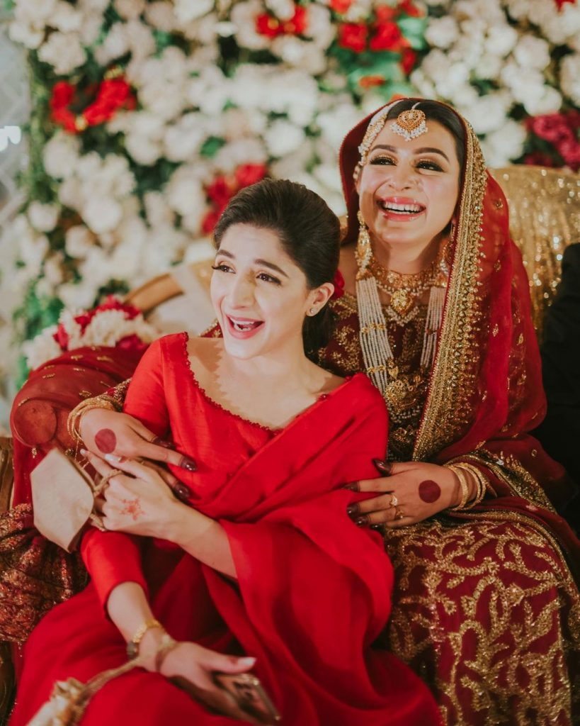Mawra Hocane Looked Ethereal In Red Saree At A Friend's Wedding