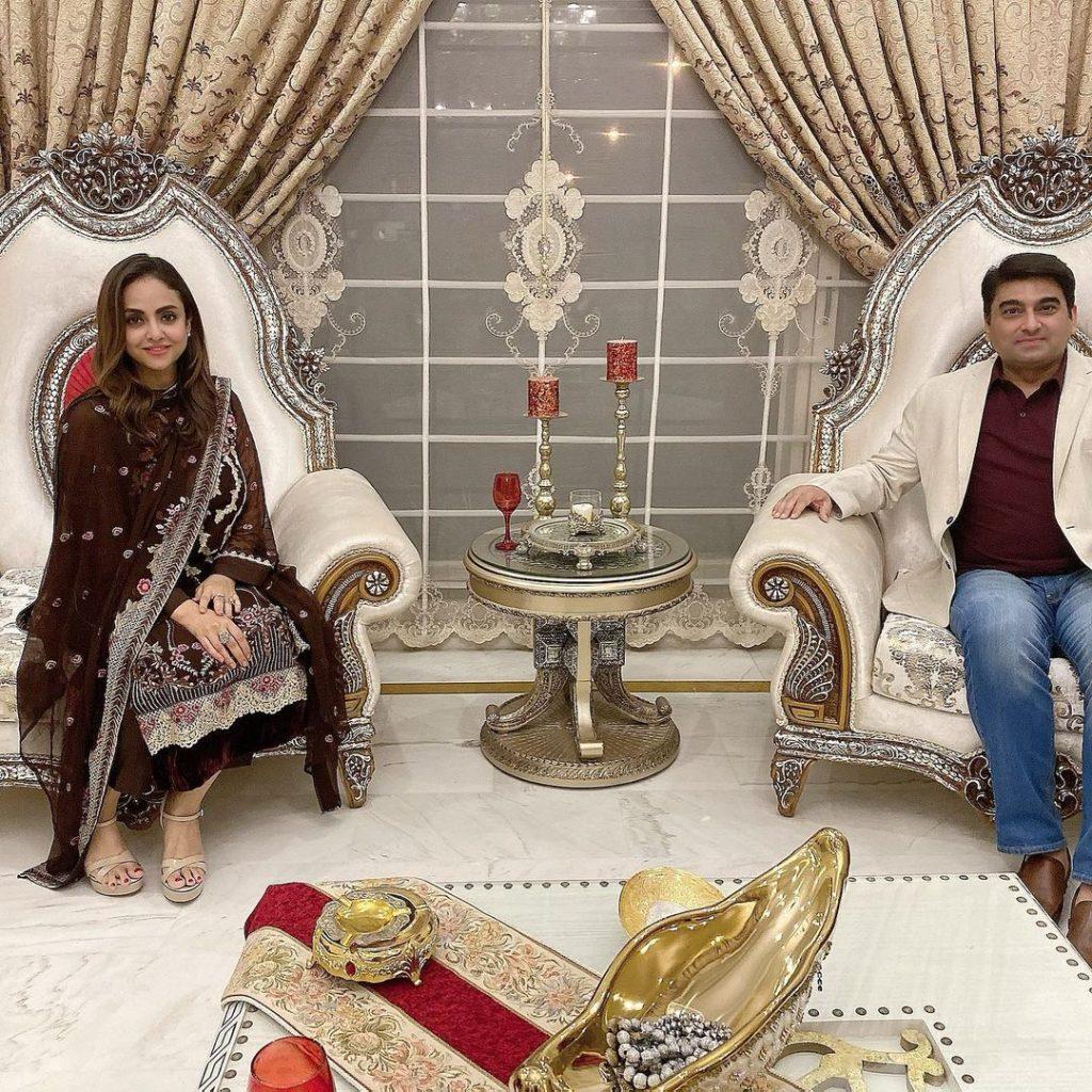 Javeria Saud Hosts A Dinner For The Newly Married Couple Nadia Khan And Faisal Mumtaz Rao