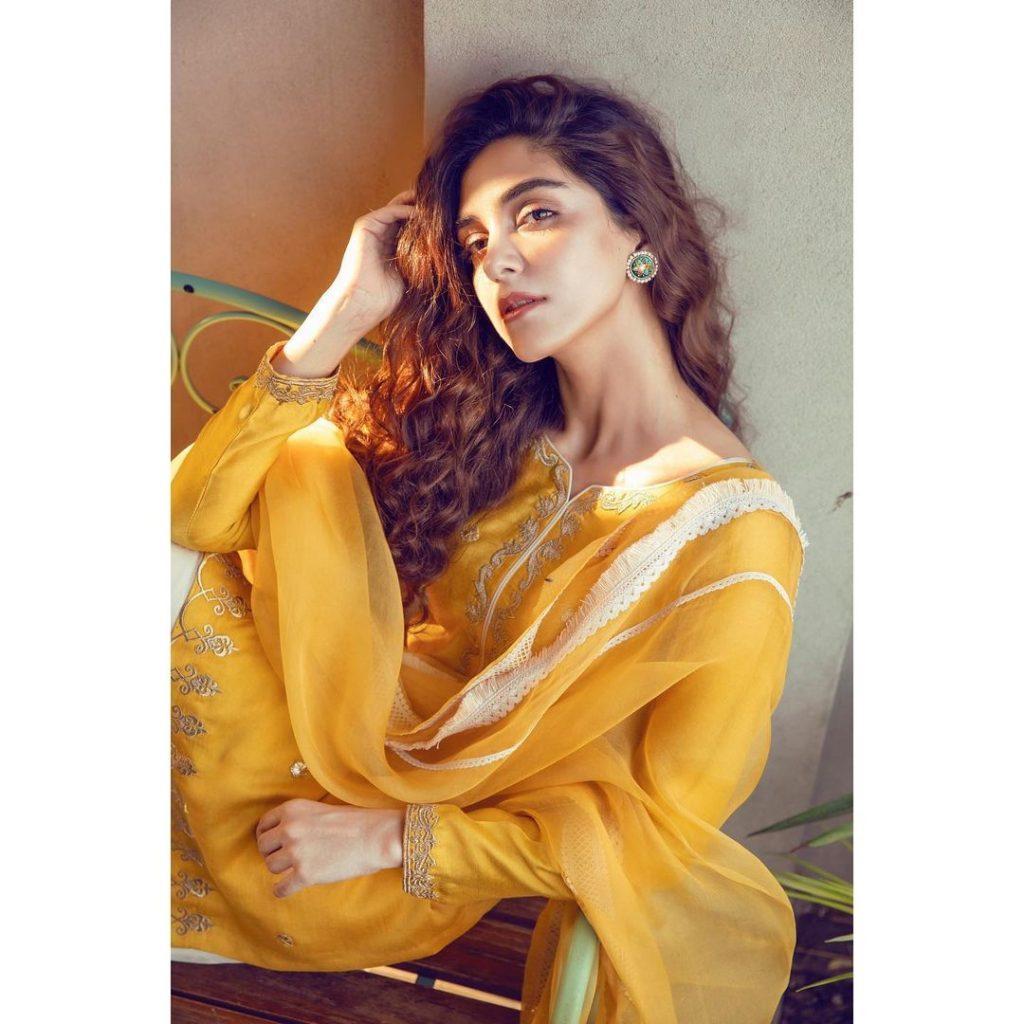 Vibrant Photos of Maya Ali in Yellow Dresses