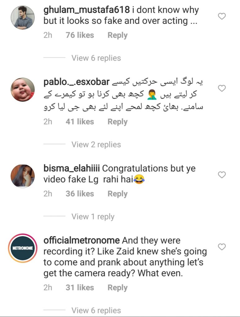 Zaid Ali And Yumnah Are Expecting Baby - Public Reaction