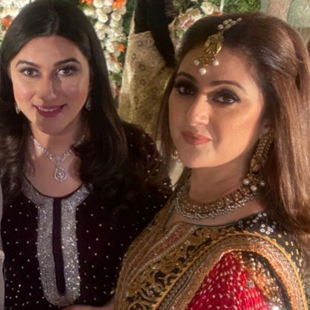 Nauman Ijaz's Wife At A Family Wedding