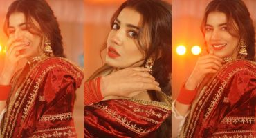 Rabia Butt Is Dazzling in Beautiful Red Outfit