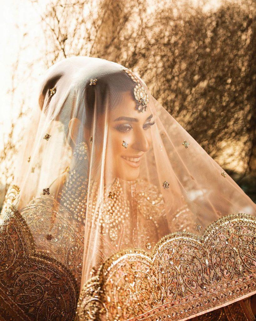 Ramsha Khan Looks Magnificent In Gorgeous Gold Bridal Ensemble