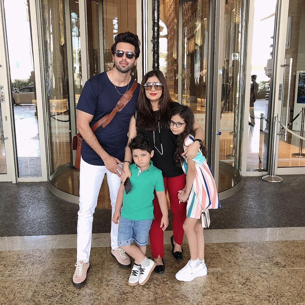 Lovely Family Photos of Fahad Mustafa and Sana Fahad
