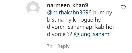 Sanam Jung's Divorce Rumors