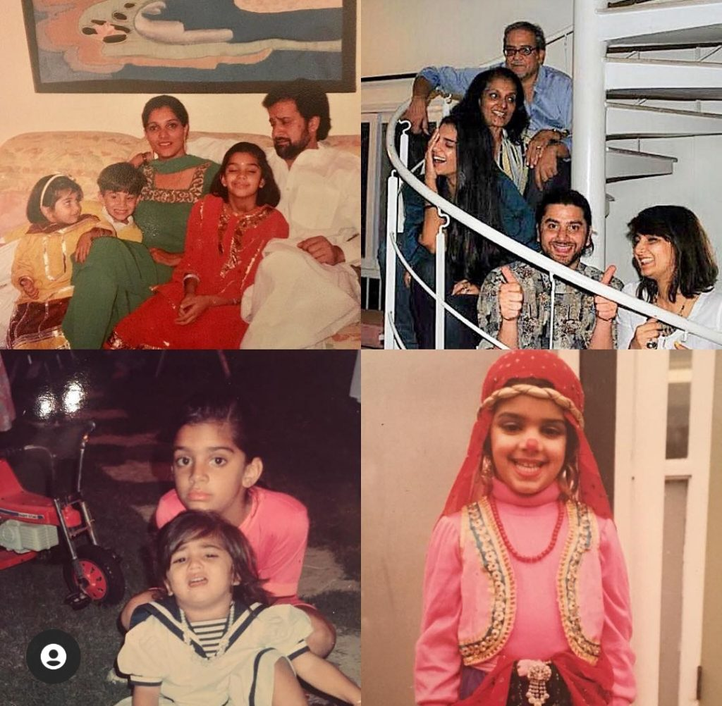 Sanam Saeed Unseen Family Pictures