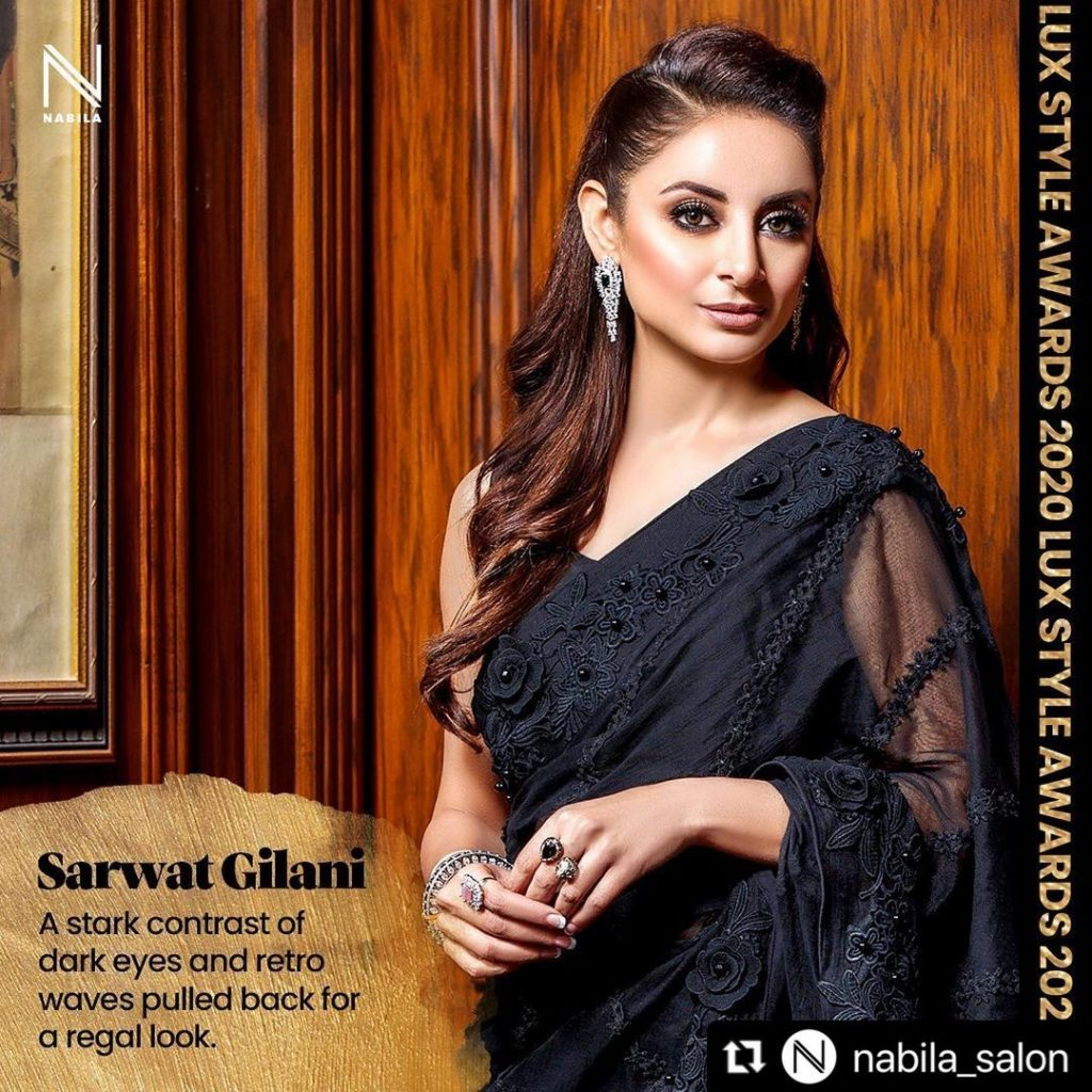 Stylish Pictures Of Sarwat Gilani in Sarees