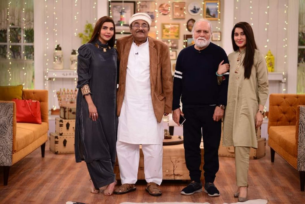 Nida Yasir and Shaista Lodhi With Their Fathers