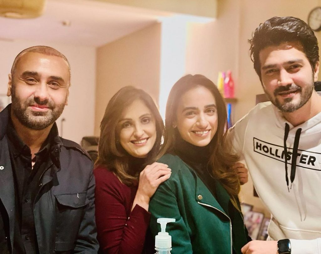 Hania Amir And Shahzad Sheikh Spotted At A New Year Party