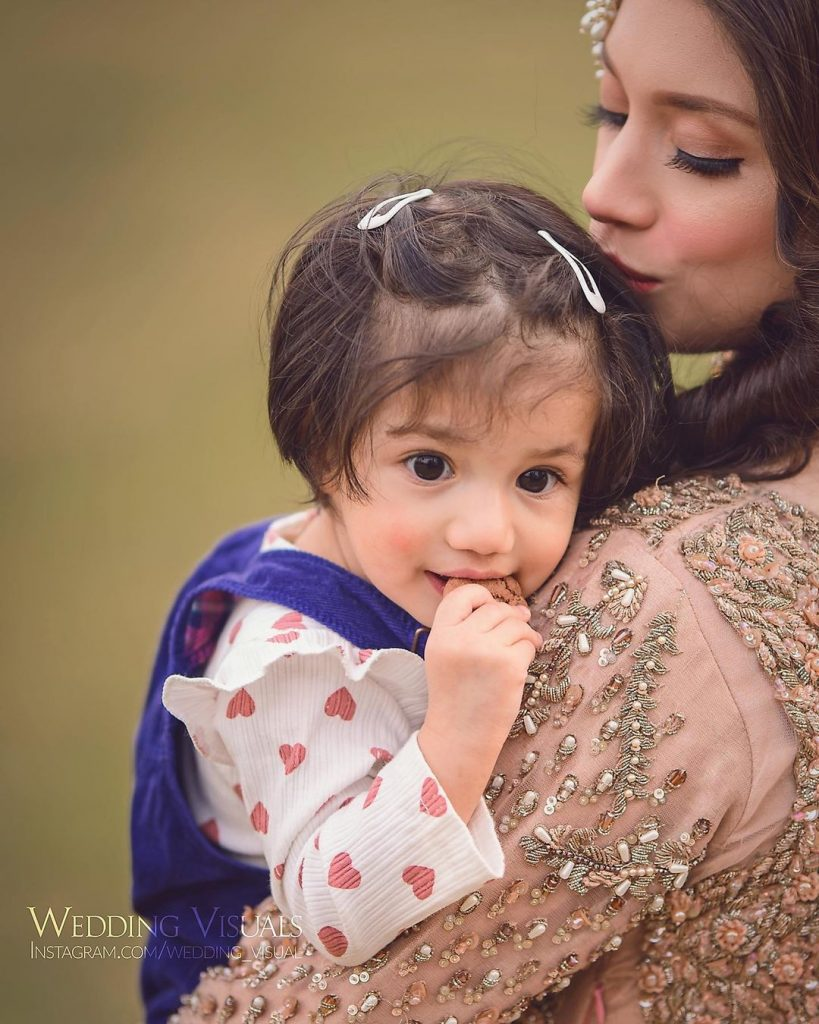 Adorable Pictures Of Sidra Batool With Her Daughter