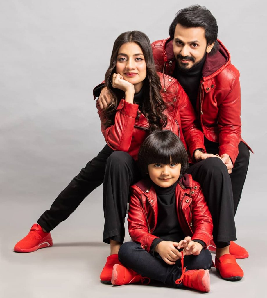 Adorable Family Pictures Of Uroosa Bilal Celebrating New Year