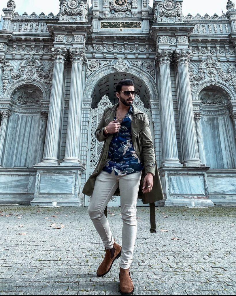 Actor Yasir Ali Khan Vacationing In Turkey And Italy
