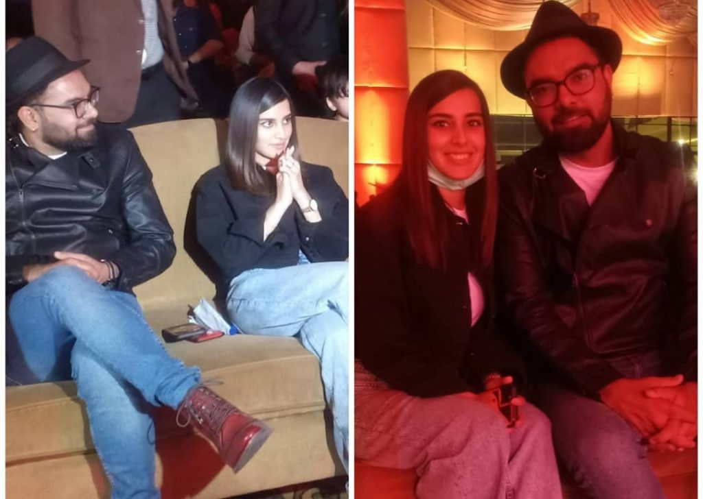 Iqra Aziz and Yasir Hussain Spotted at Chaudhry's Teaser Launch