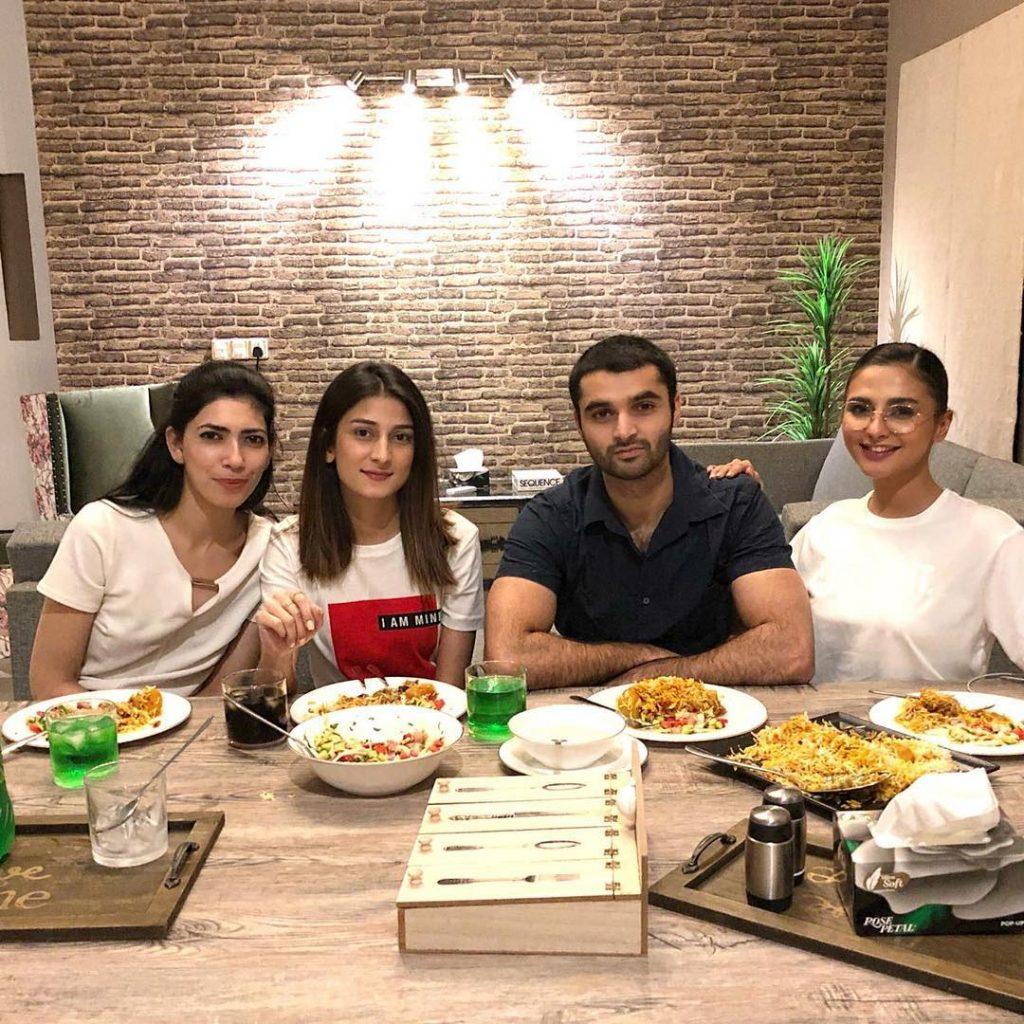 Omayr Waqar Spotted With Fashion Model Yasmeen Hashmi