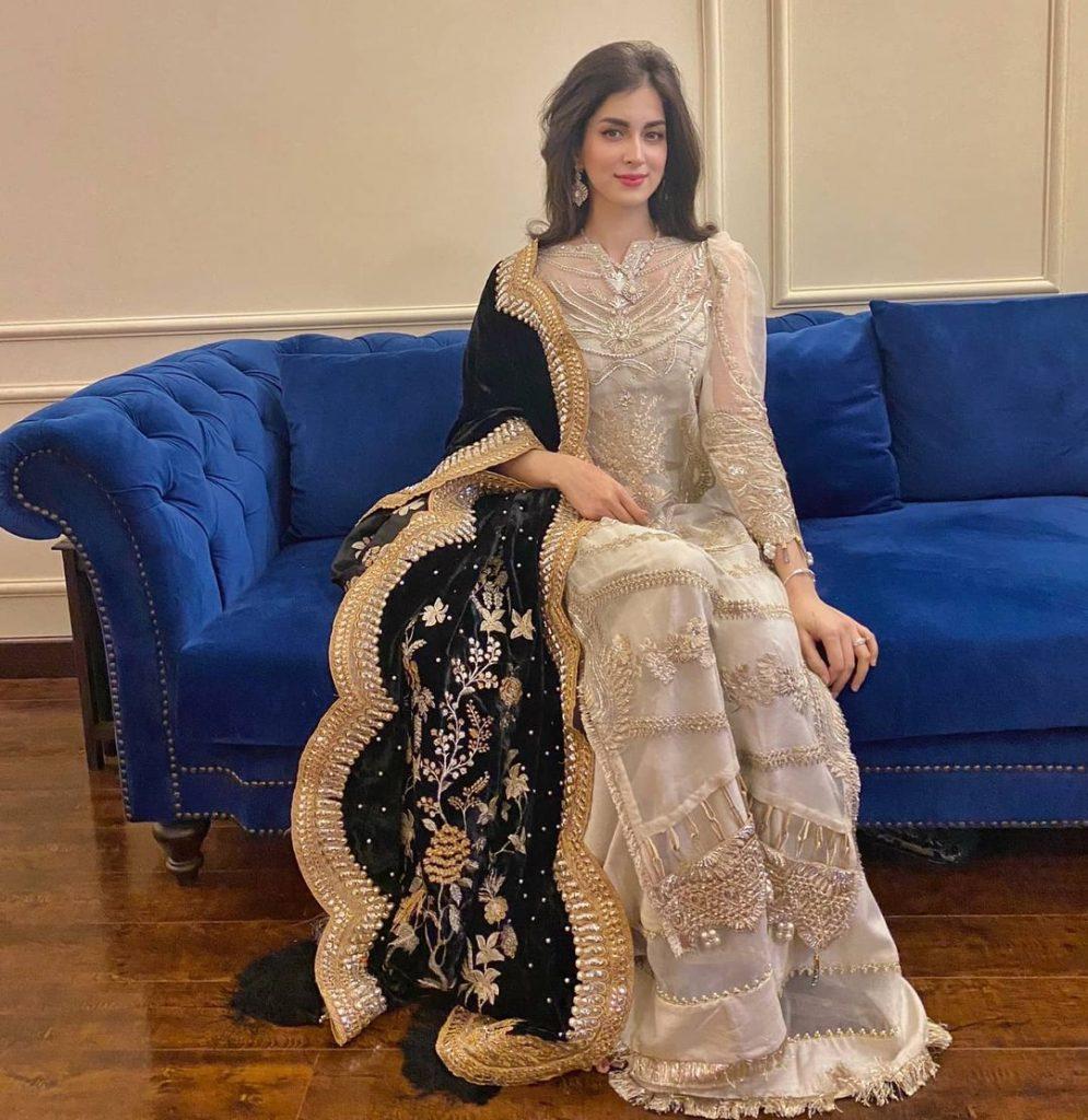 Aisam-ul-Haq's Wife Looks Exquisite In Shiza Hassan Luxury Pret