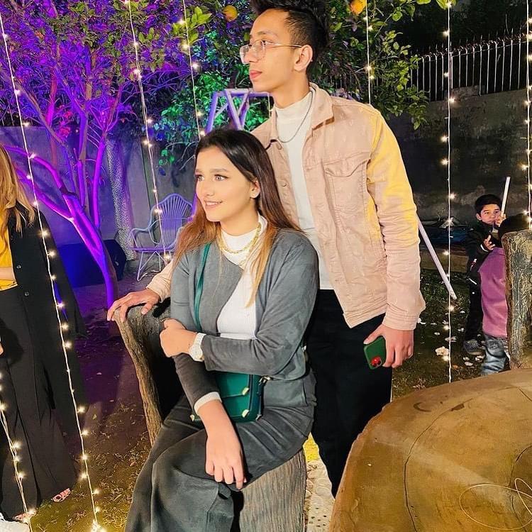 Asad And Nimra Enjoying At A Wedding Event