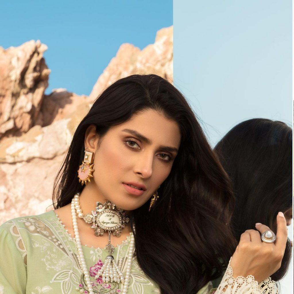 Ayeza Khan Stuns In Her Latest Luxury Lawn Shoot