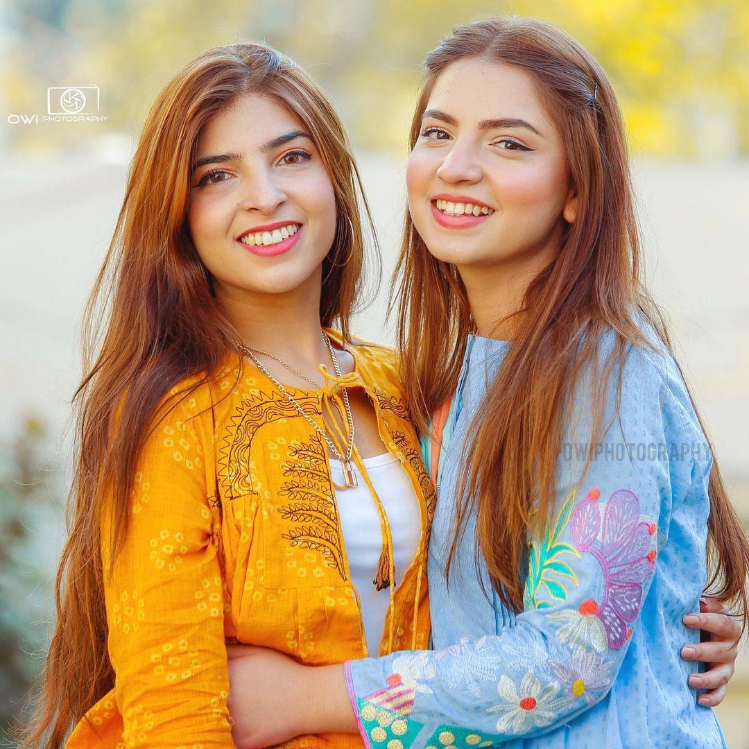 Viral Girl Dananeer with her Sister Nafayal - Photoshoot
