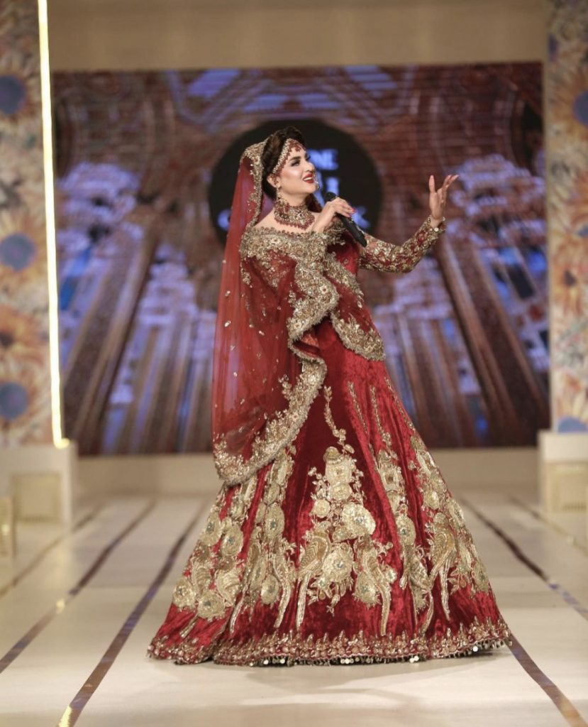 Fiza Ali Looked Gorgeous At Bridal Couture Week Day2