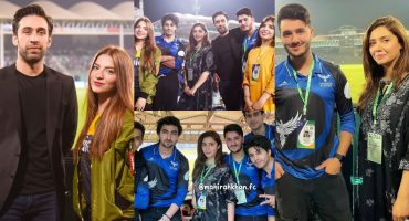 Celebrities Spotted Cheering For Their Favourite Team In PSL 6