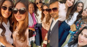 Maya Ali Pictures With Family from Birthday Party