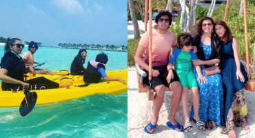 Beautiful Pictures of Nida Yasir in Maldives with her Kids