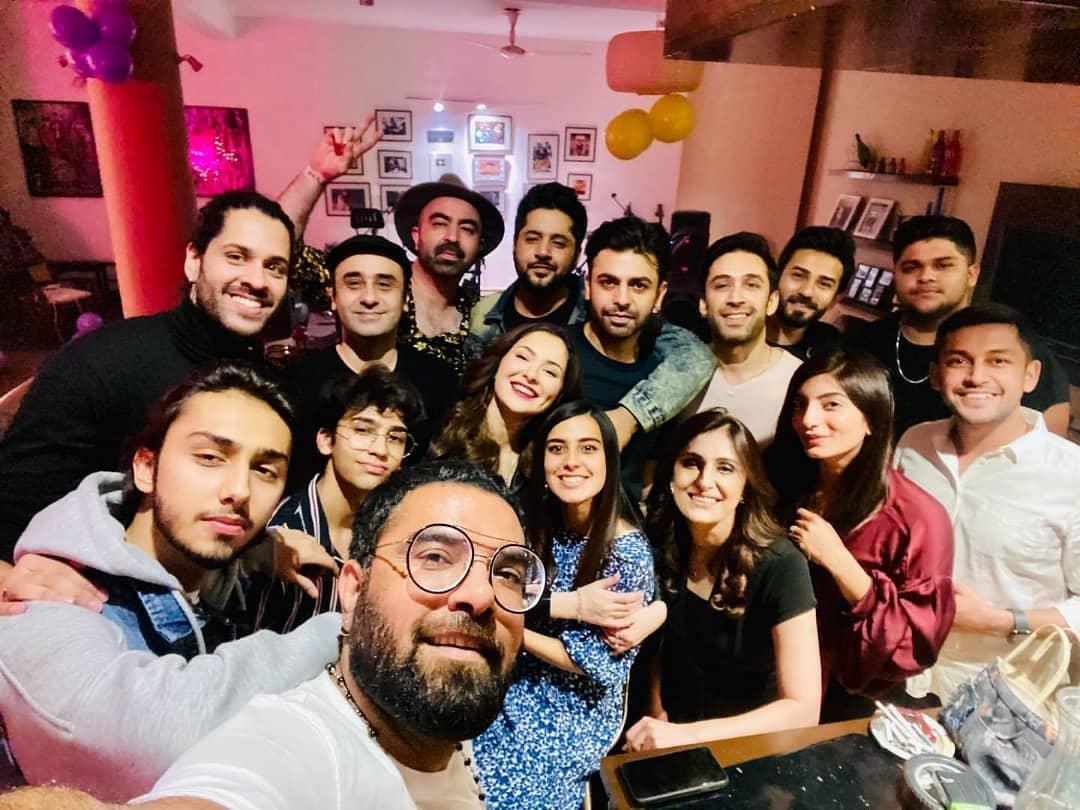 Hania Amir Celebrating Her Birthday With Friends