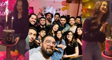 Hania Amir Celebrating Her Birthday With Friends