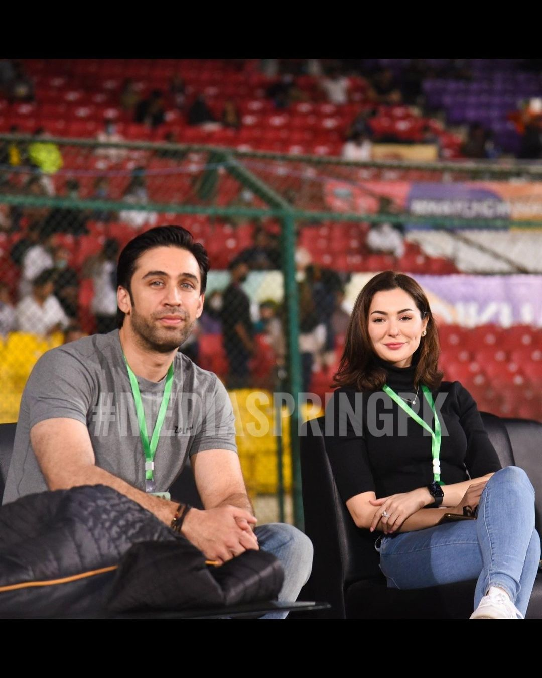 Hania Aamir and Dananeer Pictures from PSL Match