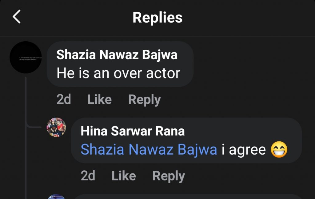 Netizens' Criticism on Imran Ashraf's Recent Performance