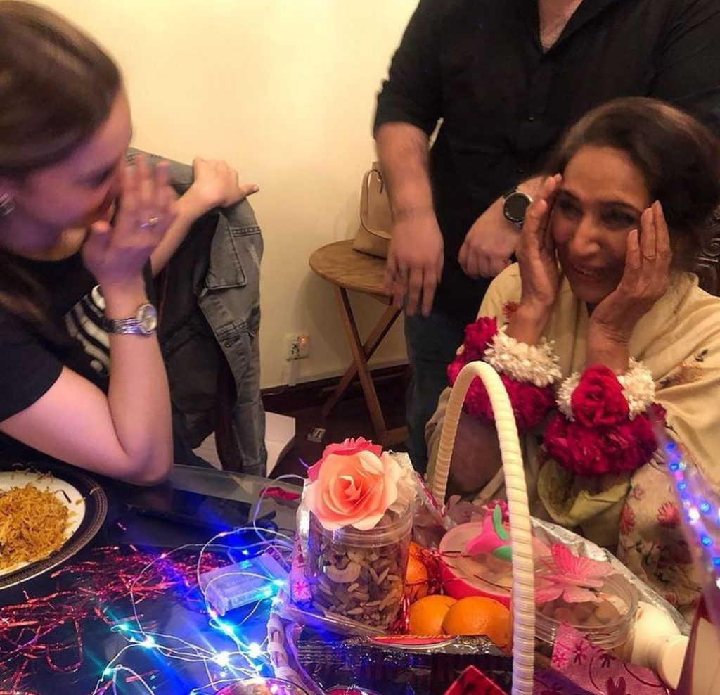 Minal Khan Surprises Beau's Grand Mother on Birthday