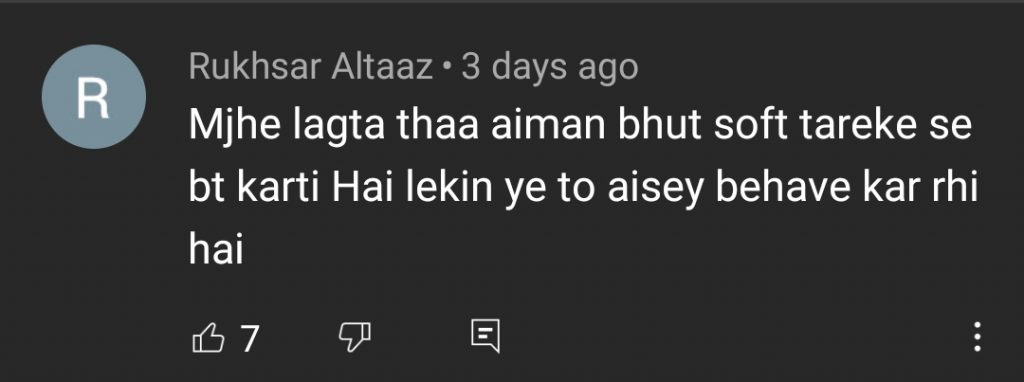 Aiman Khan Faces Criticism of Fans