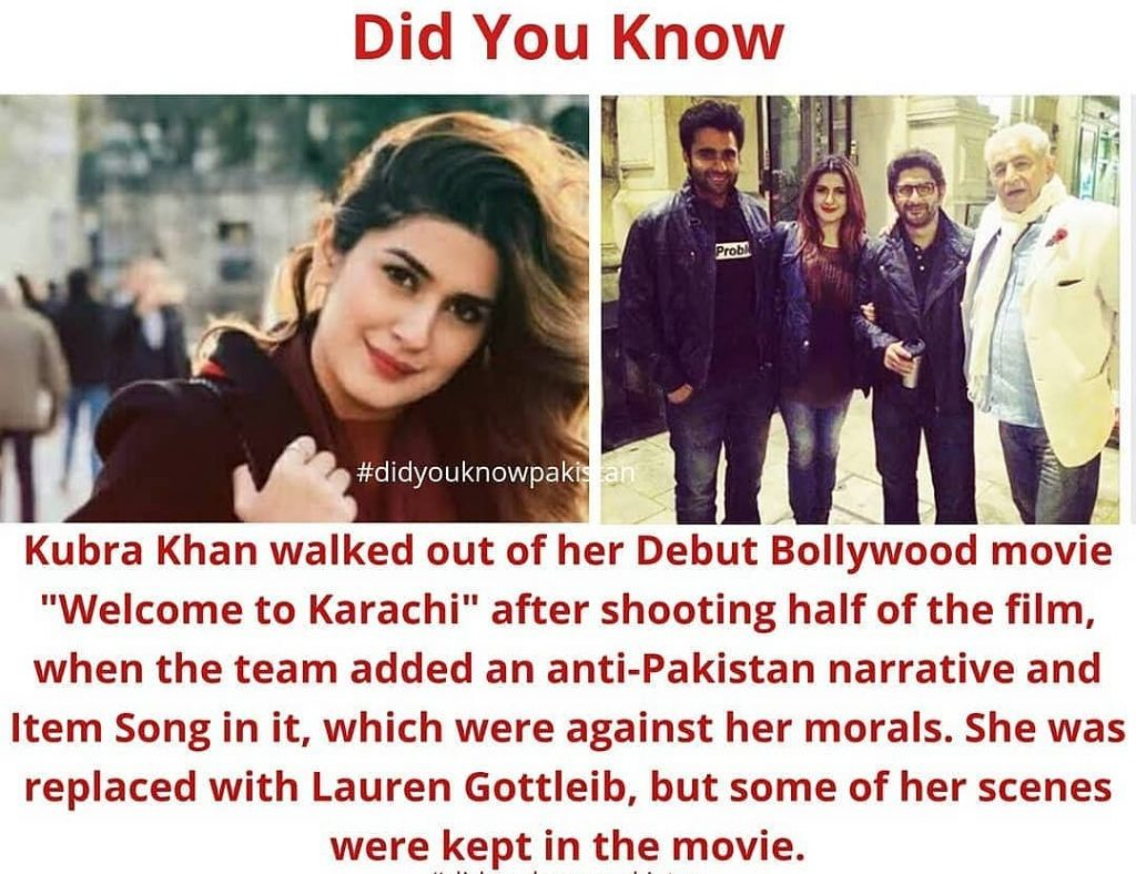Here is Why Kubra Khan Left Bollywood Movie in the Middle