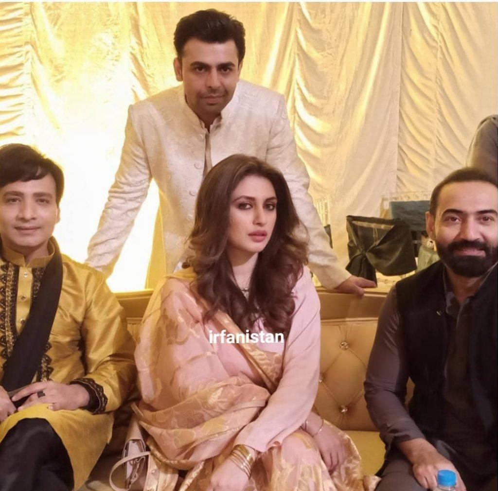 Urwa And Farhan Spotted in Qasim Ali Mureed Mehndi