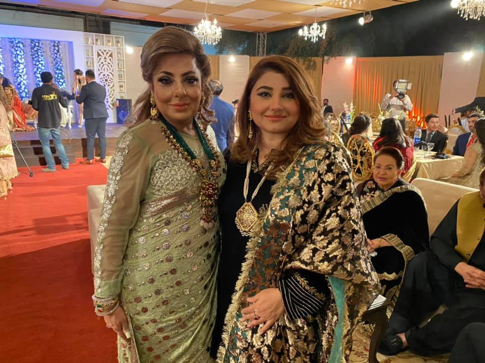 Javeria And Saud Spotted At A Wedding Event