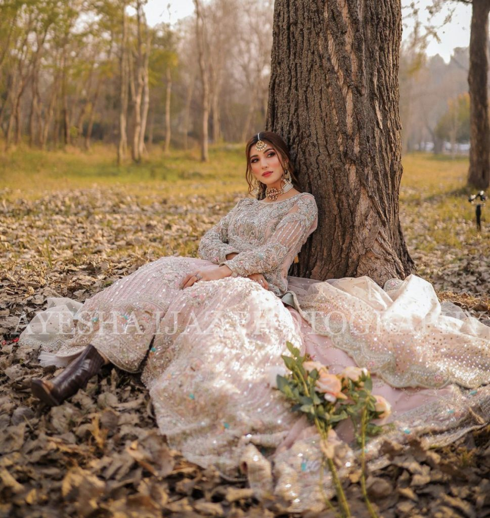 Latest Bridal Pictures Of Beautiful Nazish Jahangir