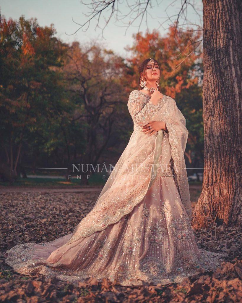 Nazish Jahangir Rocking The Ivory Bridal Look